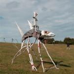 Des sculptures aériennes à la gloire des habitants des eaux.