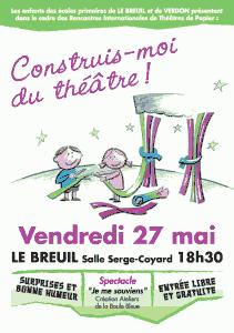 Construis-moi du théâtre ! - Vendredi 27 mai - Le Breuil salle serge-coyard 18h30